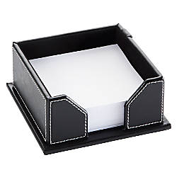 Realspace Black Leatherette Memo Holder