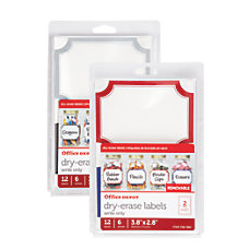 Office Depot Brand Dry Erase Labels