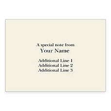 Custom Printed Stationery Note Cards Folded