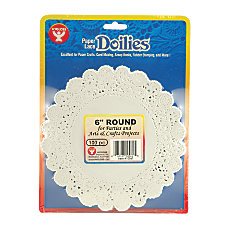 Hygloss Round Doilies 6 White 100