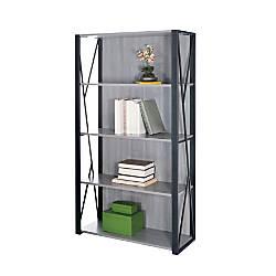 Safco Mood 4 Shelf Bookcase Gray
