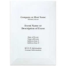 Custom Printed Premium Invitations Multi Layer