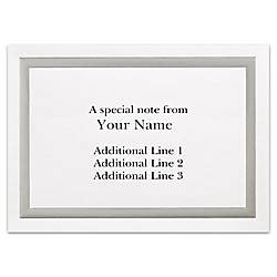 Custom Printed Stationery Note Cards Silver