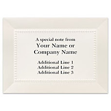 Custom Printed Stationery Note Cards Pearl