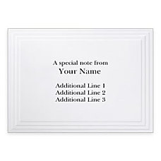 Custom Printed Stationery Note Cards Multi