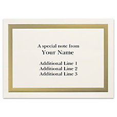 Custom Printed Stationery Note Cards Gold