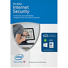 McAfee 2016 Internet Security Unlimited Devices