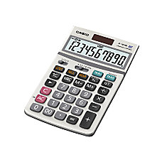 Casio JF 100MS SolarBattery Powered Calculator