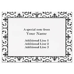 Custom Printed Stationery Note Cards Black