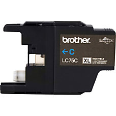 Brother LC75C Ink Cartridge Cyan Inkjet
