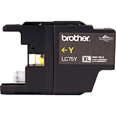 Brother LC75Y Ink Cartridge Yellow Inkjet