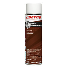 Betco Lemon Furniture Aerosol Polish Pack