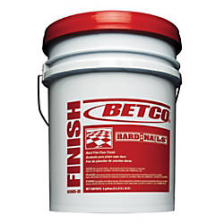 Betco Hard As Nails Floor Finish 5 Gallons By Office Depot