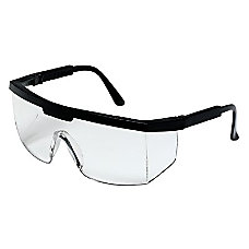 EXCALIBUR BLACK FRAME CLEAR LENS SAFETY