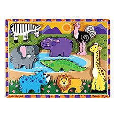 Melissa Doug Safari Chunky Puzzle