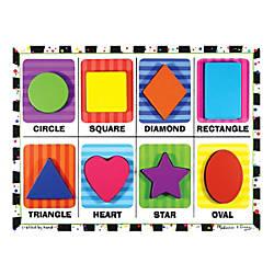 Melissa Doug Shapes Chunky Puzzle