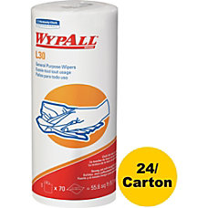 Wypall L30 Wipers 70 SheetsRoll White