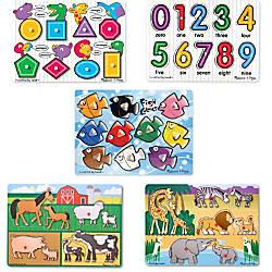 Melissa Doug Peg Puzzle Set Set