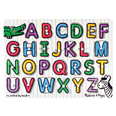 Melissa Doug See Inside Alphabet Peg