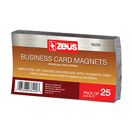 Baumgartens business card magnets 2 x 3 12 black pack of for Home depot business cards