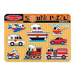 Melissa Doug Vehicles Sound Puzzle