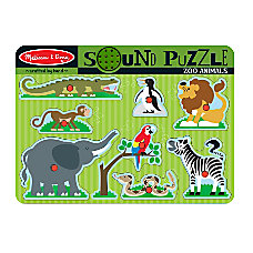 Melissa Doug Zoo Animals Sound Puzzle