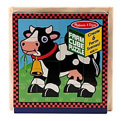 Melissa Doug Farm Cube Puzzle