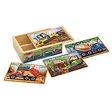 Melissa Doug Construction Puzzles In A