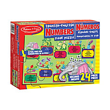 Melissa Doug 24 Piece Bilingual Numbers