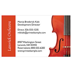 Full Color Business Cards With Backside