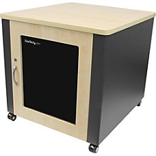 StarTechcom Soundproof Server Rack with Casters