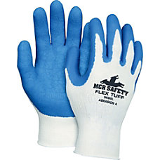 Memphis FlexTuff Latex Dipped Gloves WhiteBlue