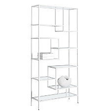 Monarch Specialties Asymmetrical 9 Shelf Bookcase