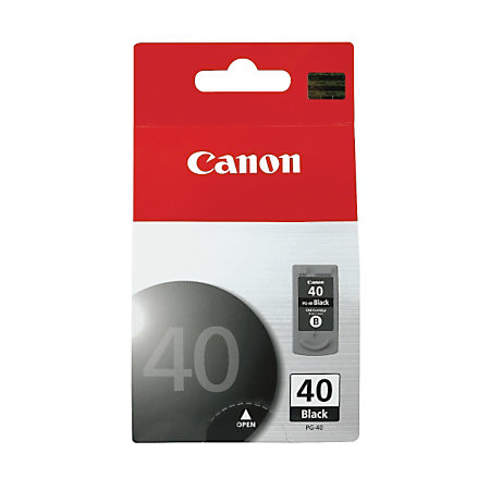 canon pg 40 chromalife 100 black ink cartridge 0615b002aa by office depot officemax. Black Bedroom Furniture Sets. Home Design Ideas