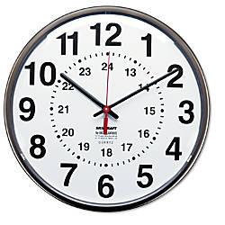 SKILCRAFT 24 Hour Clock 12 Diameter