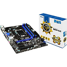 MSI B85M E45 Desktop Motherboard Intel
