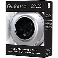 iSound GoSound Portable Speaker Silver 208466
