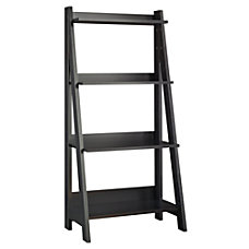 Bush Furniture Alamosa Ladder Bookshelf Classic