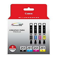 Canon CLI 251 BlackColor Ink Cartridges