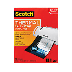 Scotch Thermal Laminating Pouches Letter Size