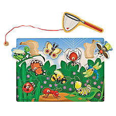 Melissa Doug Bug Catching Magnetic Puzzle