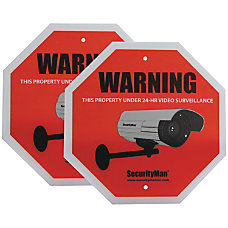 Security Man Surveillance Warning Signs Pack
