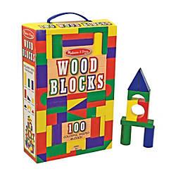 Melissa Doug 100 Wood Blocks Set