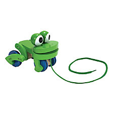Melissa Doug Frolicking Frog Pull Toy