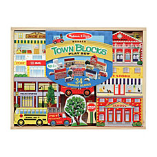Melissa Doug Town Blocks Playset