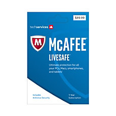 McAfee LiveSafe 2017 For Unlimited Devices