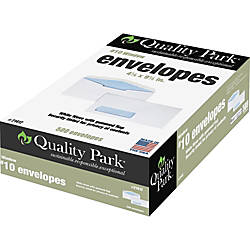 Quality Park Single Window Envelopes 10