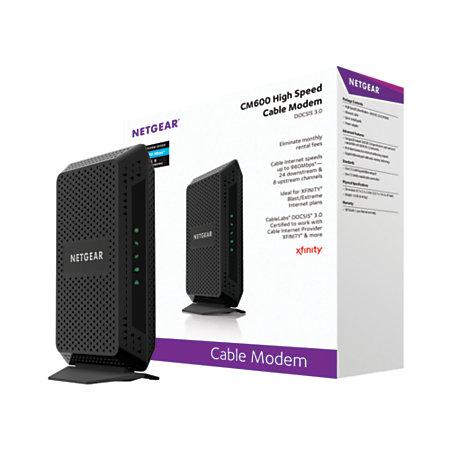 netgear docsis 3 0 high speed wired gigabit cable modem cm600 netgear® docsis 3 0 high speed wired gigabit cable modem cm600 100nas