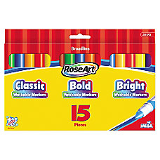 RoseArt Washable Broadline Markers Assorted Colors