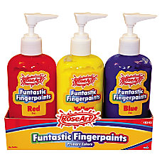 RoseArt Washable Finger Paint Bottles 8